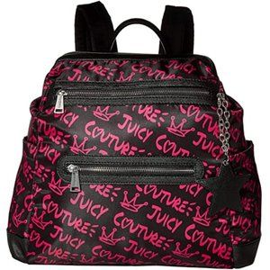 JUICY COUTURE Street Wise Backpack Black Fuchsia
